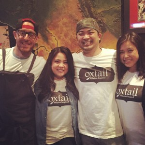 Chef Rampelle Aguilar w Team Oxtail