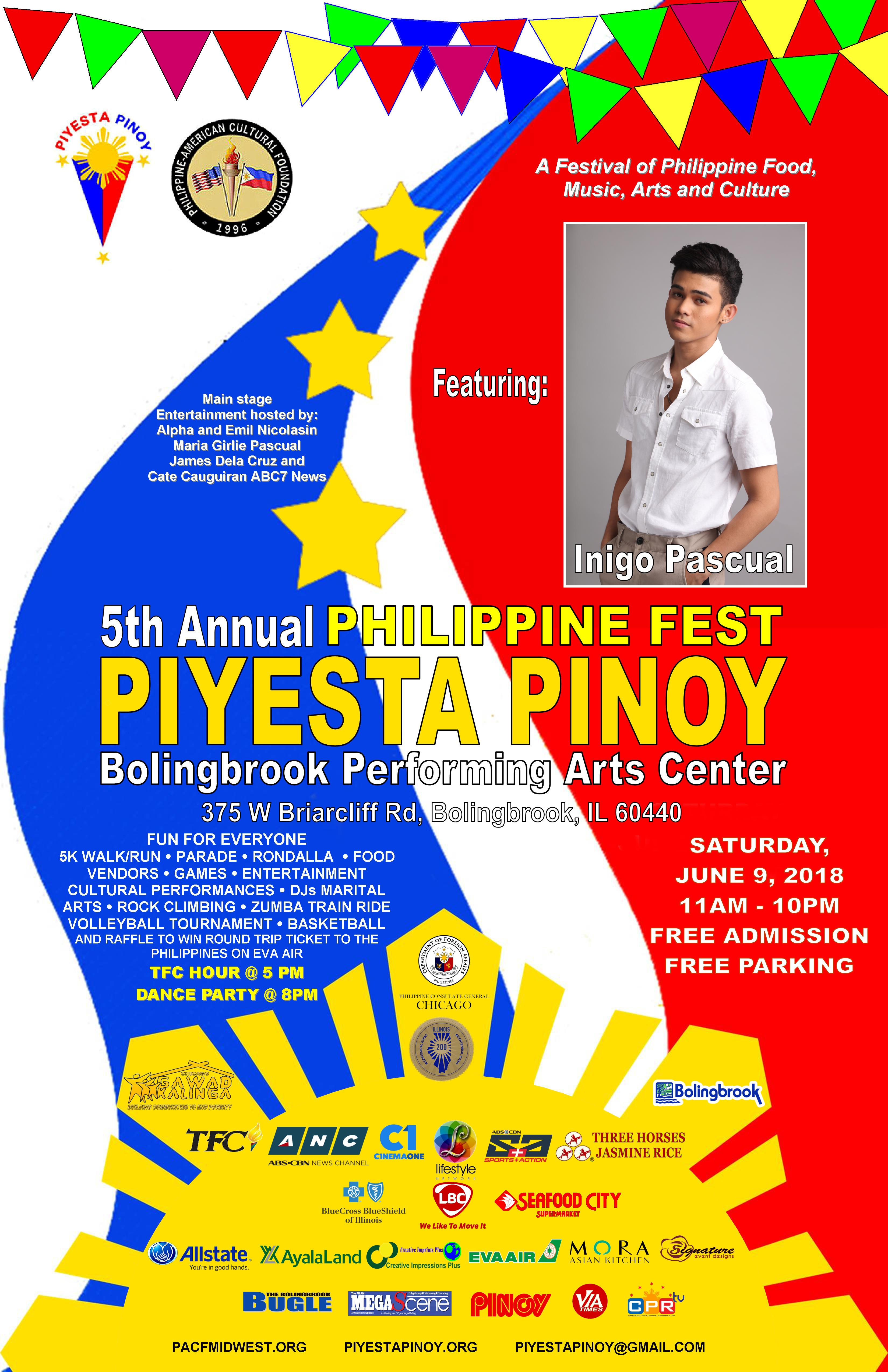 Philippine american cultural foundation 2018 piyesta pinoy announces local performers m4hsunfo